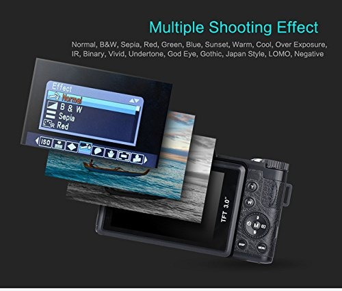 kingear r2hd 22mp 3.0-inch lcd cámara digital con zoom