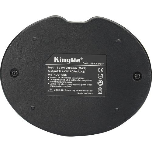 kingma dual usb carregador bateria para sony np -fw50 + mais