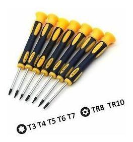 kingsdun 12 en 1 destornillador torx conjuntos con t3 t4 t5