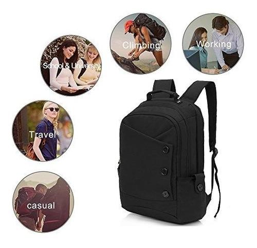 kingslong mochila para hombres y mujeres 156 pulgadas laptop