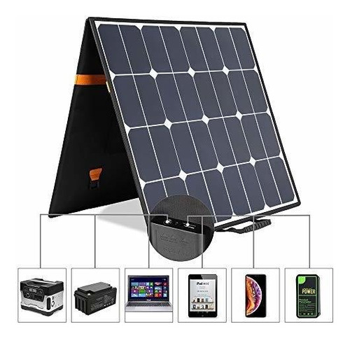 kingsolar 100 w 18 v 12 v portatil plegable panel solar carg