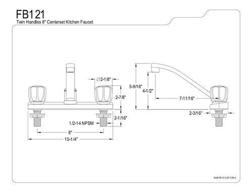 kingston brass fb121 7 11/16 inch spout reach columbia 8 inc