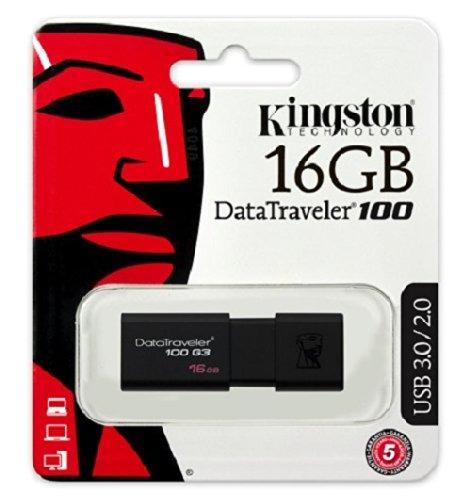 kingston digital 16gb 100 g3 usb 3.0 datatraveler (dt100g3