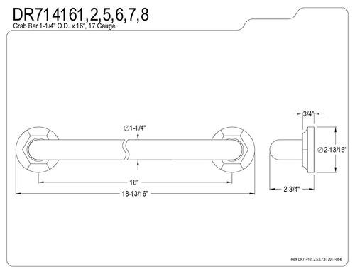 kingston - latón dr714162 diseñador trimscape metropolitan