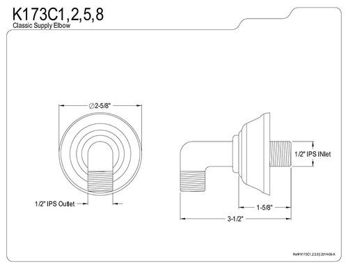 kingston latón k173c8 diseñador trimscape showerscape mont
