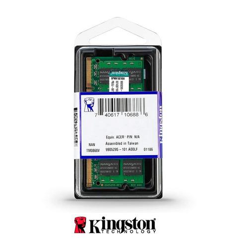 kingston memoria ddr3 ram 2gb 800mhz  kvr800d2s6/2g