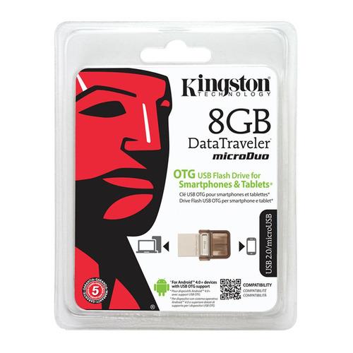 kingston memoria flash usb 8gb dtduo/8gb-tw - barulu