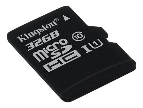 kingston memoria micro sd 32gb clase 10 80mbs canvas con ada