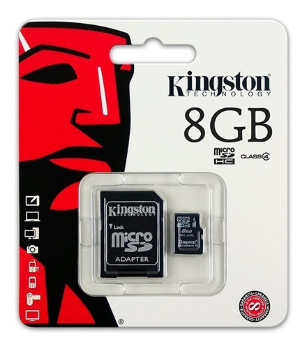 kingston memoria micro sd 8gb clase 4 mayoreo barata nuevo +