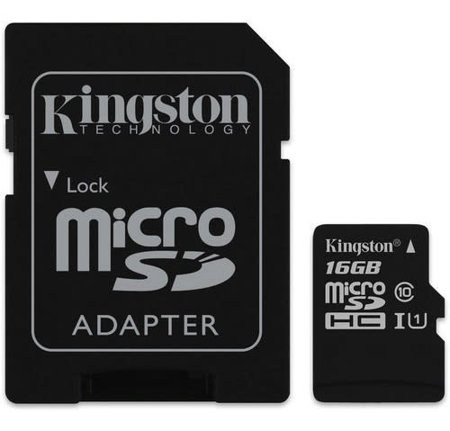 kingston memoria micro sd hc 16gb uhs-i cl10 celulares 80mb
