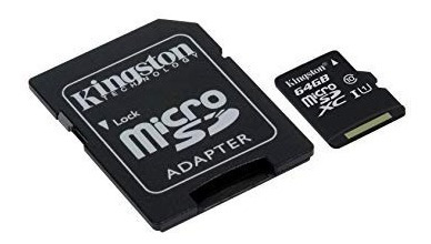 kingston memoria micro sd hc i 64gb clase 10 ultra mobile canvas select original mayoreo garantia celular tablet