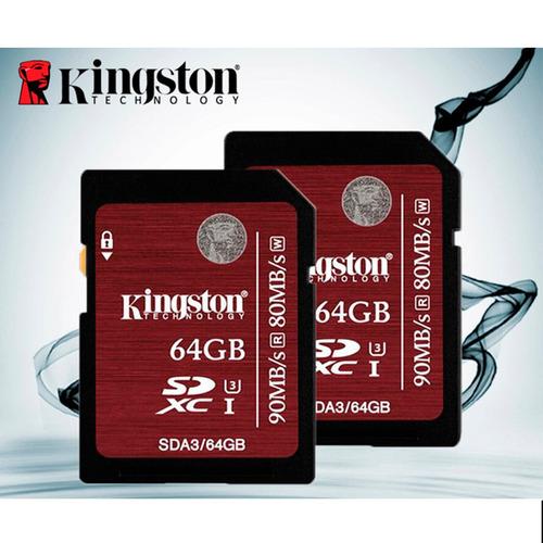 kingston  memoria sd hc clase 3 64gb sda3/64gb