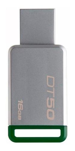kingston memoria usb 3.0 16gb dt50 alta velocidad resistencia mayoreo metal original pc laptop garantia