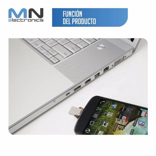 kingston-memoria usb datatraveler microduo otg de 32gb - neg