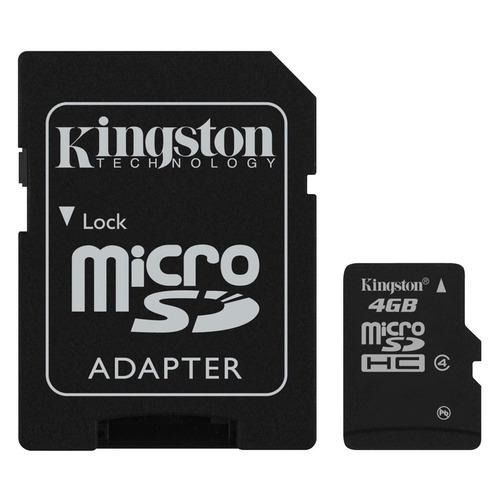 kingston tarjeta de memoria 4gb micro sd con adaptador