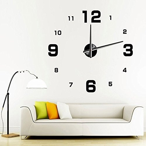 kingtoys 39.37 pulgadas moderno 3d frameless reloj de pared