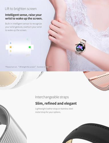 kingwear kw10 reloj inteligente sportwatch mujeres ip68