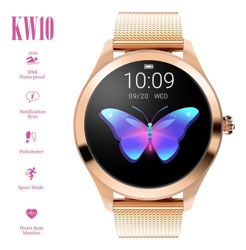 kingwear kw10 smart watch sportwatch mujeres ip68 impermeabl