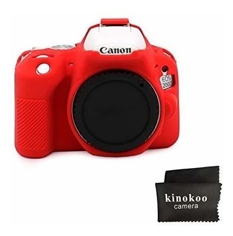 kinokoo silicone cover for canon eos 200d/rebel sl2, canon e