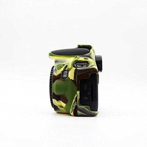 kinokoo silicone cover for canon eos 200d/rebel sl2 protecti