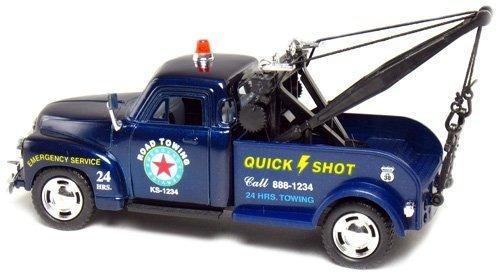 kinsmart 1953 blue chevy 3100 camión de remolque 138 escala