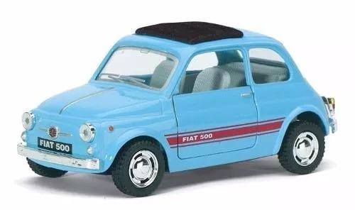 Kinsmart Fiat 500 Celeste Escala 1 36 Butaca Rebatible
