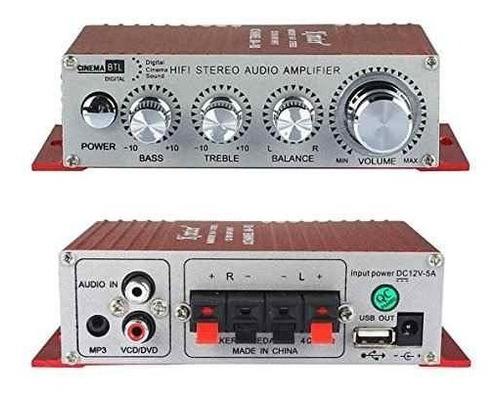 kinter ma-180 12v potencia coche equipo amplificador