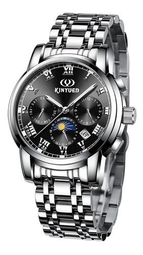 kinyued negócio relógio 3atm kinyued à água preto