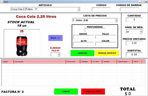 kioscofacil programa facturación stock cajas precios ventas