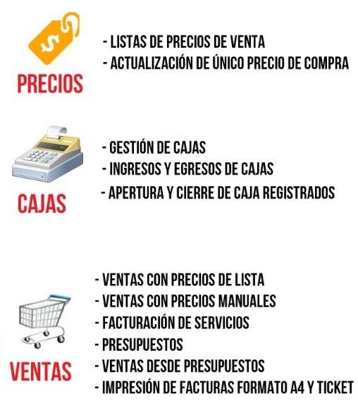 kioscofacil programa facturación stock cajas ventas express 399