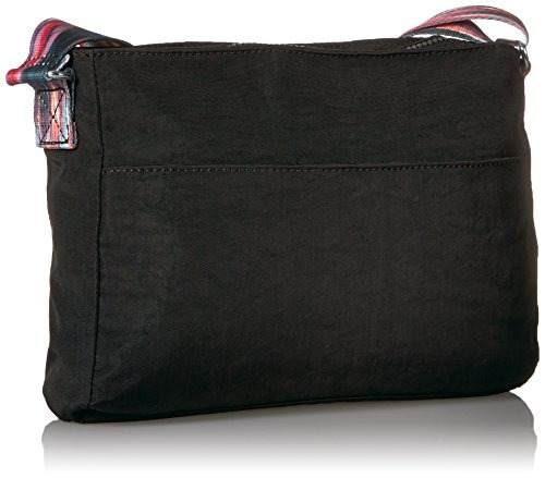 kipling angie solid bolso bandolera convertible, negro