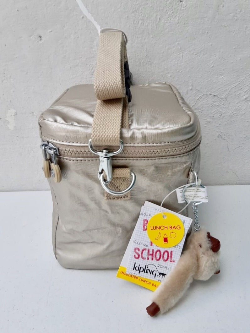 bfbdf1186 Kipling Lonchera Graham Térmica Dorado 100% Original - $ 960.00 en ...