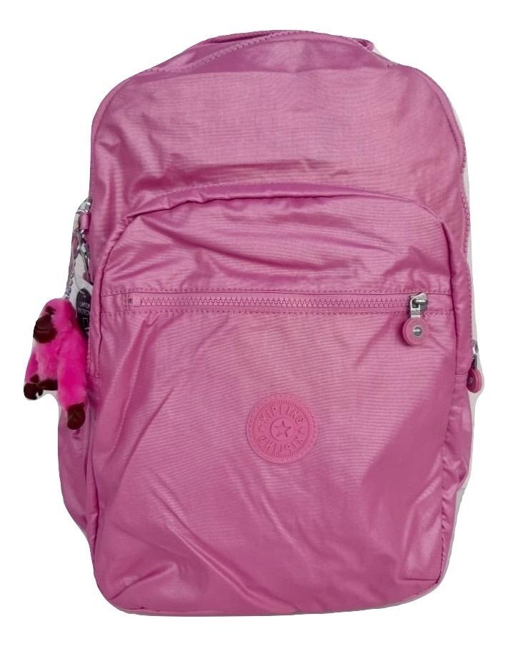 6b19023c2 kipling mochila seoul grande rosa metálico original oferta. Cargando zoom.