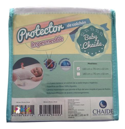 kirin protector para colchón cuna corral impermeable chaide