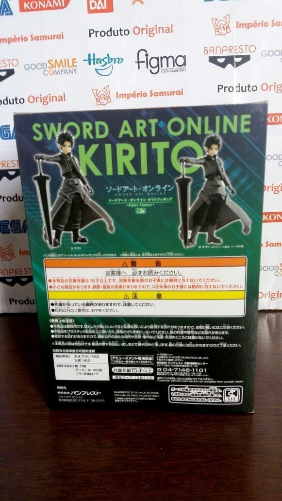 Kirito Figur Banpresto  Fairy Dance 18cm original Sword Art Online