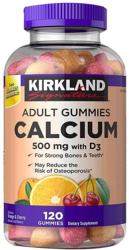 kirkland adult gummies calcium 120 / gomitas de calcio adult