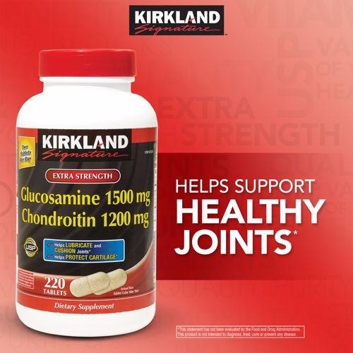 kirkland signature¿ glucosamine & chondroitin, 220 tablets