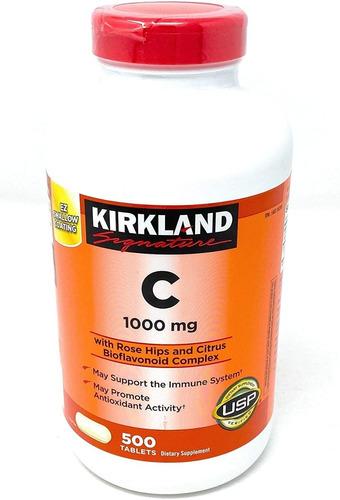 kirkland signature vitamina c w/ rose hips 500 comprimidos