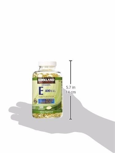 kirkland signature vitamina e 400 iu x 500 cápsulas blandas