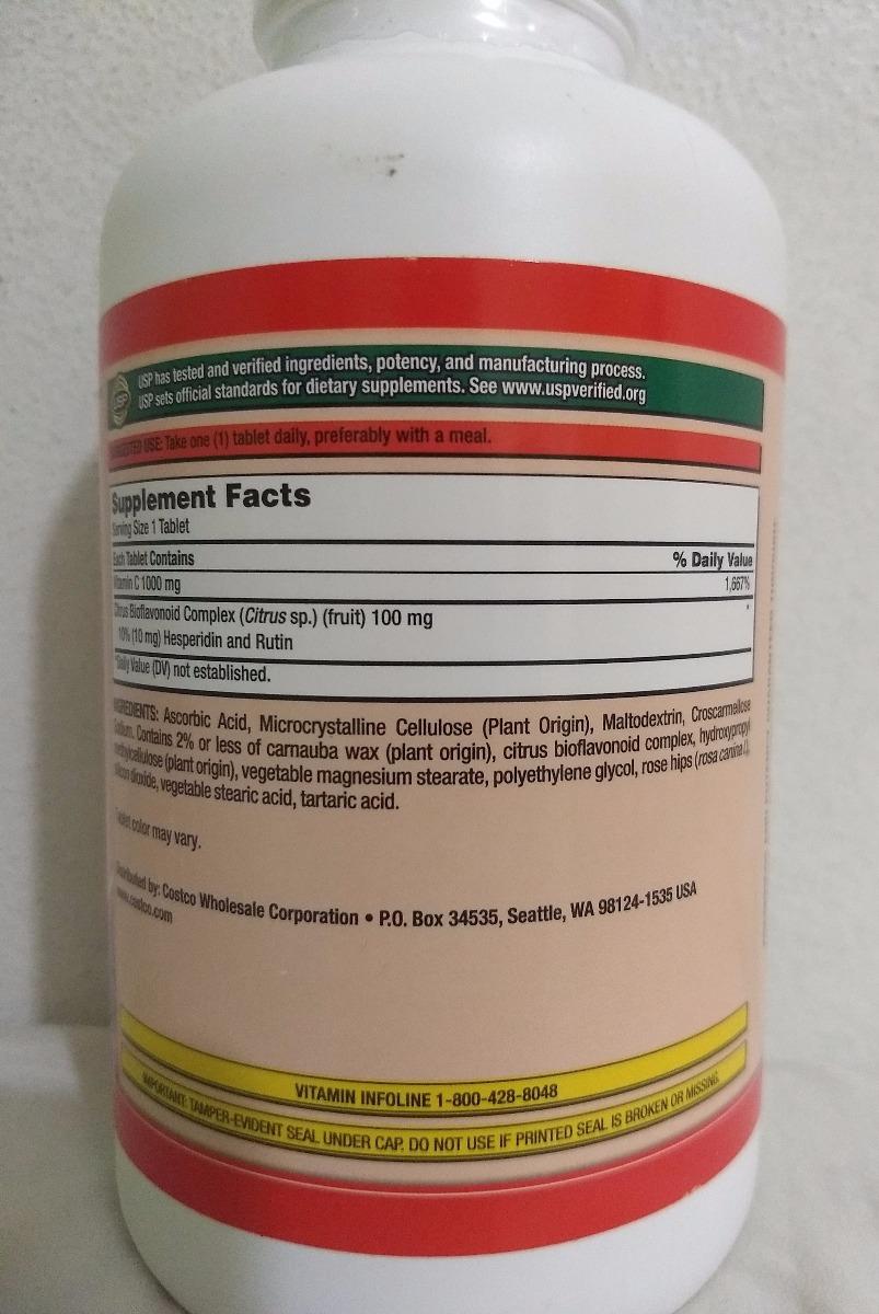 Kirkland Vitamin Vitamina C 1000mg 500 Tablets 05 2021 R 21949 Carregando Zoom