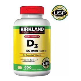 Kirkland Vitamina D3 2000 Iu X 600 - Unidad a $138