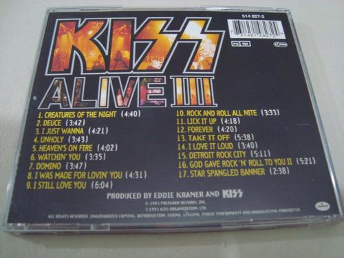 kiss  alive 3 ill + 1 bonus track  cd germany