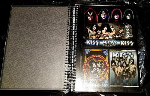 kiss - caderno 96 folhas com adesivos