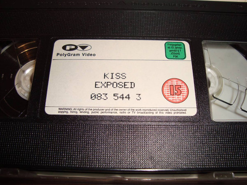 kiss exposed vhs original uk