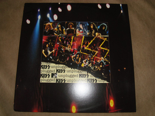 kiss   mtv unplugged 2 lp vinilos amarillos 1996 made in usa
