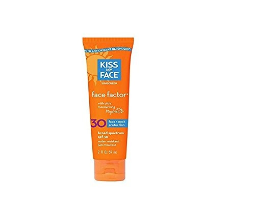 kiss my face face factor sunscreen spf 30 sunblock para la