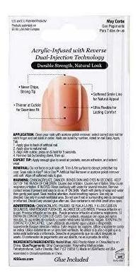 kiss salon - clavos acrílicos (28 unidades, longitud corta,