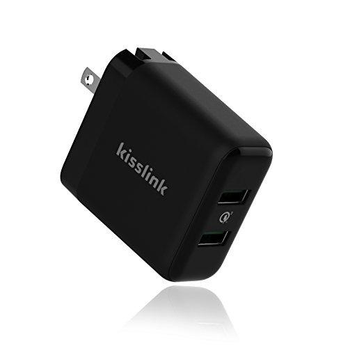 kisslink kw3220 dual usb cargador de pared con carga rápida