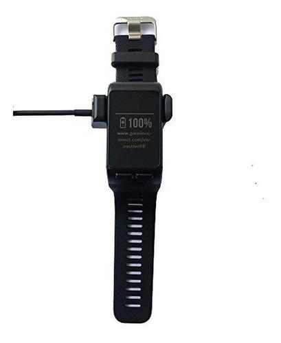 kissmart cable de carga para garmin vivoactive hr 33 ft negr
