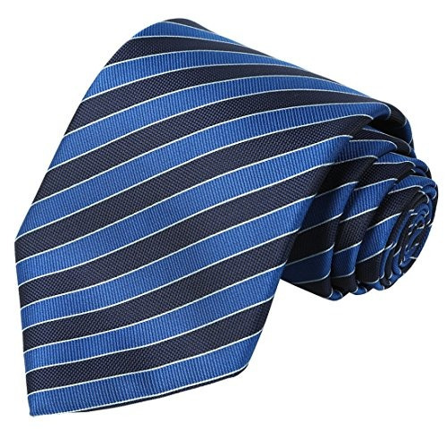 kissties tall men navy extra tie tie blue striped necktie +